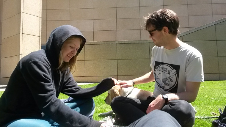 Dan and Amanda make a new friend.
